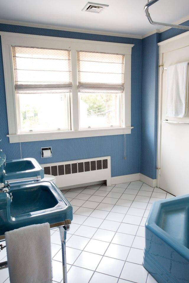 My very blue bathroom