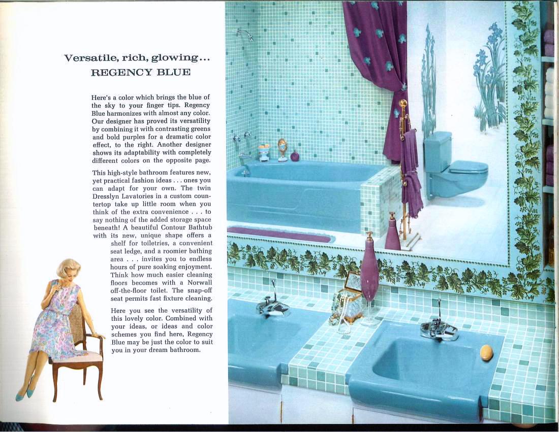 1962 Regency Blue bathroom