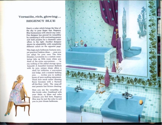 1962 Regency Blue bathroom