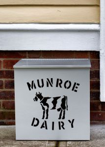 My milk box from Munroe Dairy