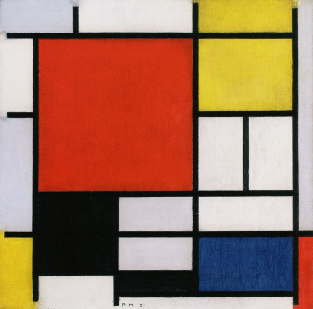 Piet Mondrian, Composition with Large Red Plane, Yellow, Black, Gray and Blue