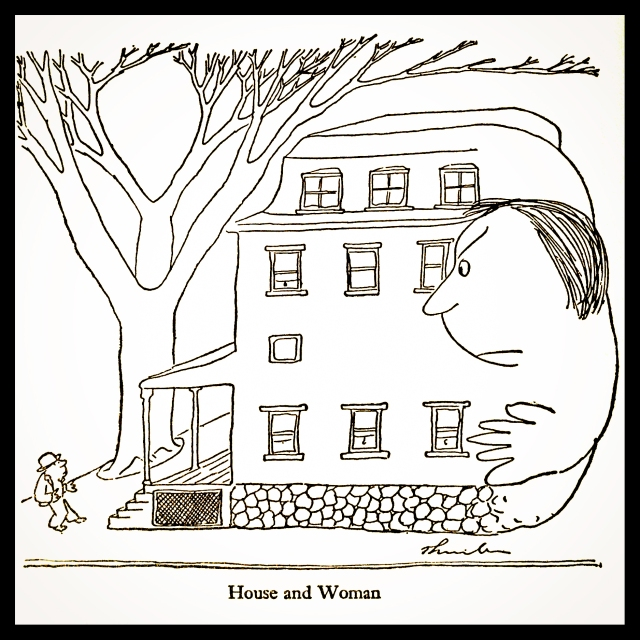 "James Thurber cartoon, ""Home"""