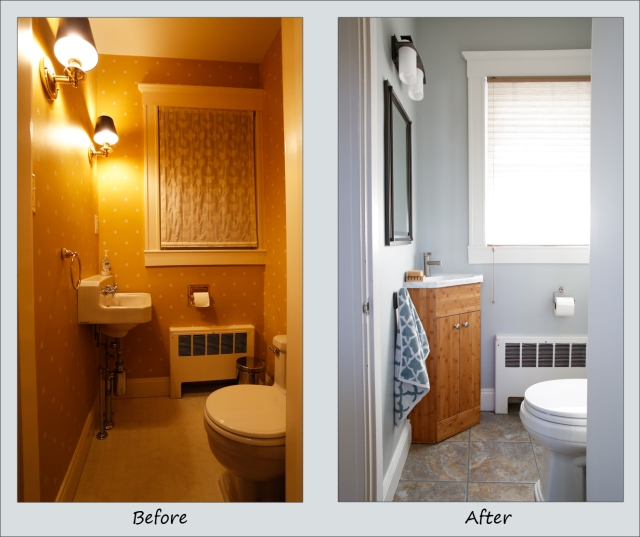 Big changes to a small bathroom